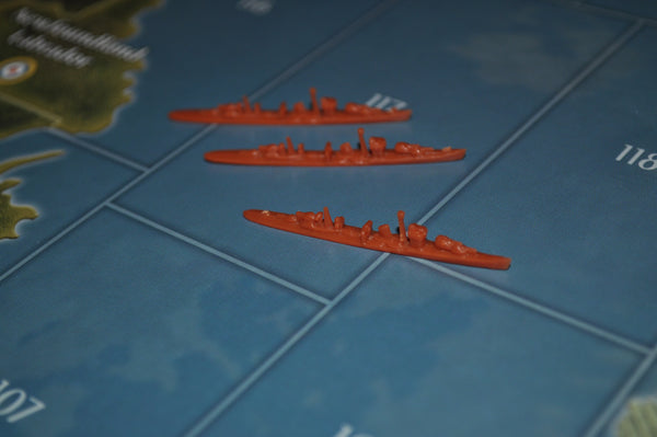 Axis & Allies Japanese Destroyer (x3)