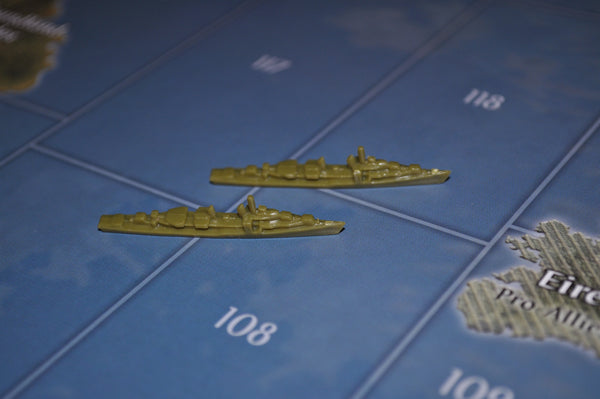 Axis & Allies US Destroyer (x2)