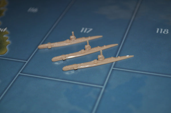 Axis & Allies UK Submarine (x3)