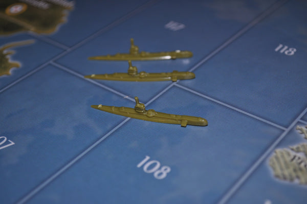 Axis & Allies US Submarine (x3)