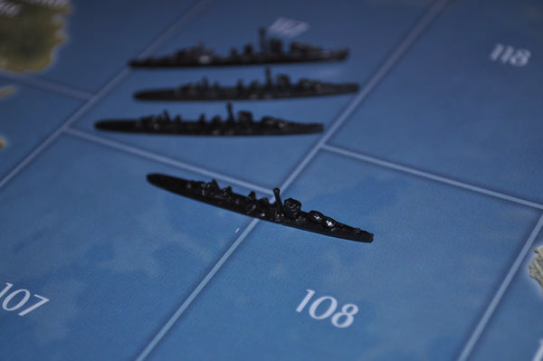 Axis & Allies German Destroyer (x4)