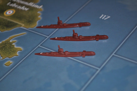 Axis & Allies Russian Submarine (x3)
