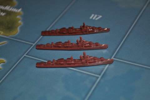 Axis & Allies Russian Destroyer (x3)