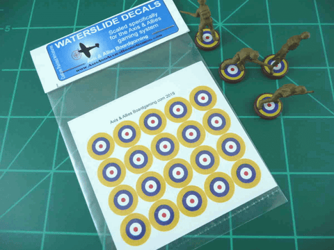 Axis & Allies British Roundel Infantry Base Water Slide Decal