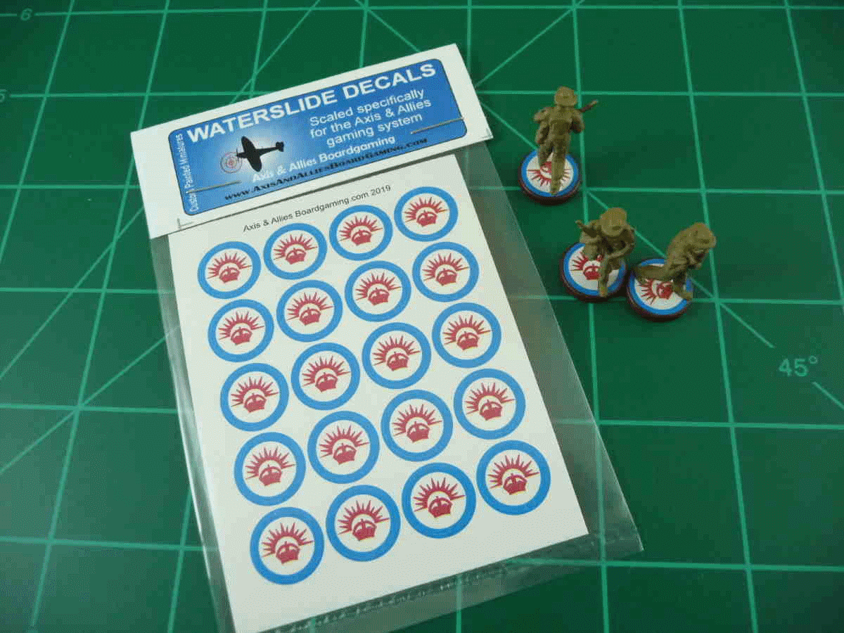 Axis & Allies ANZAC Roundel Infantry Base Water Slide Decal