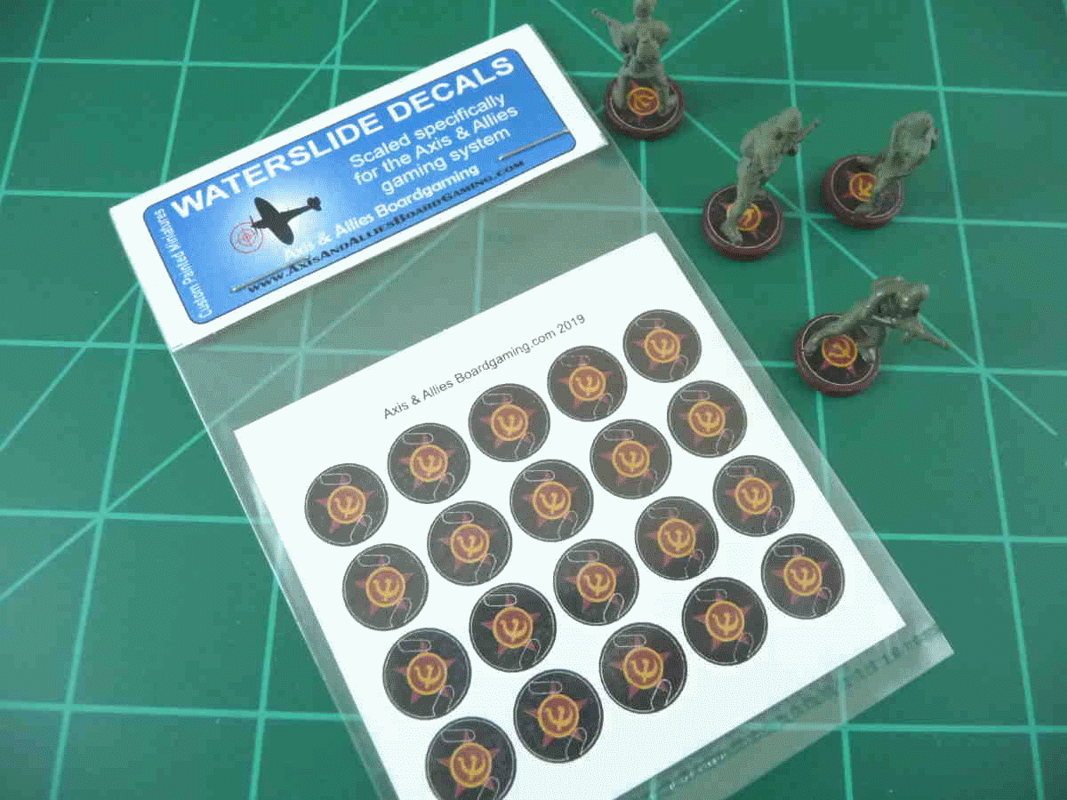 Axis & Allies Russian Roundel Infantry Base Water Slide Decal