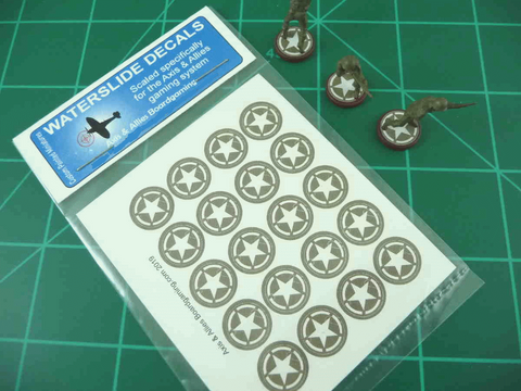 Axis & Allies US Infantry Base Insignia Water Slide Decal