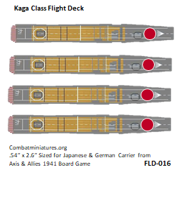 Custom Japanese Akagi Class Carrier Flight Deck Sticker (x4)