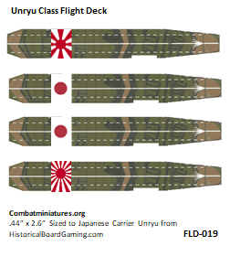 Custom Japanese Unyru Carrier Flight Deck Sticker (x4)