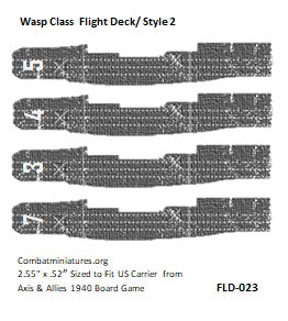 Custom Wasp Class Carrier Flight Deck Sticker/ Style 2 (x4)