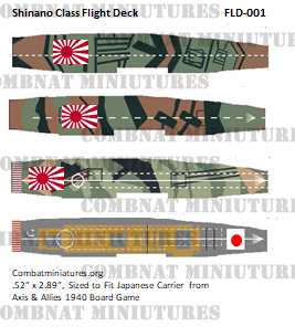 Custom Japanese Shinano Class Flight Deck Sticker (X4)