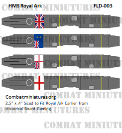 Custom HMS Ark Royal Class Flight Deck Sticker (x4)