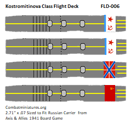 Custom Kostromitinova Class Carrier Flight Deck Sticker (x4)