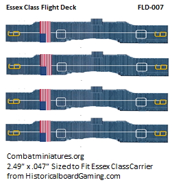 Custom Essex Class Carrier Flight Deck Sticker (x4)