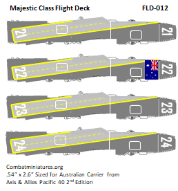 Custom Majestic Class Flight Deck Sticker (x4)