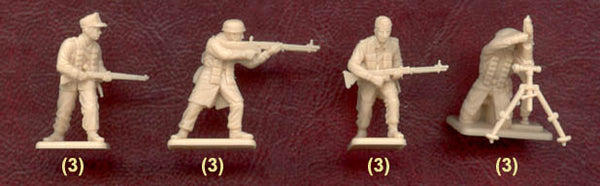 Italeri Miniatures 1/72 German Paratroopers (Tropical Uniform)