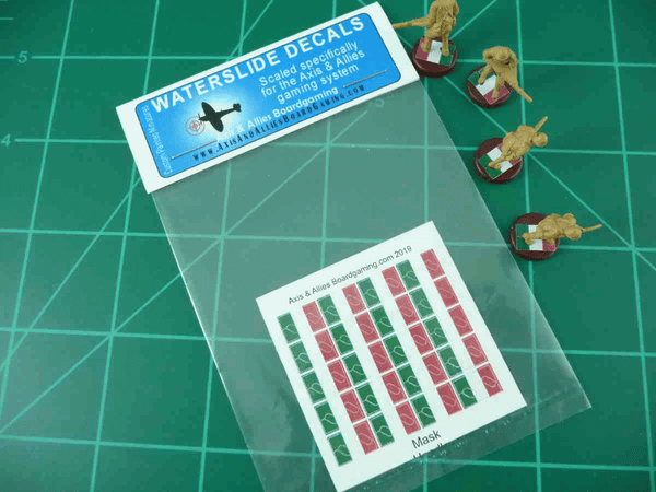 Axis & Allies Italian Flag Infantry Base Water Slide Decals