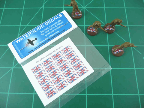 Axis & Allies Union Jack Flag Infantry Base Water Slide Decal