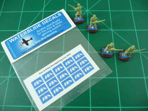 Axis & Allies Chinese Flag Infantry Base Insignia Water Slide Decal