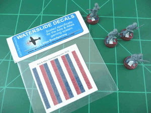 Axis & Allies French National Flag Infantry Base Insignia Water Slide Decal