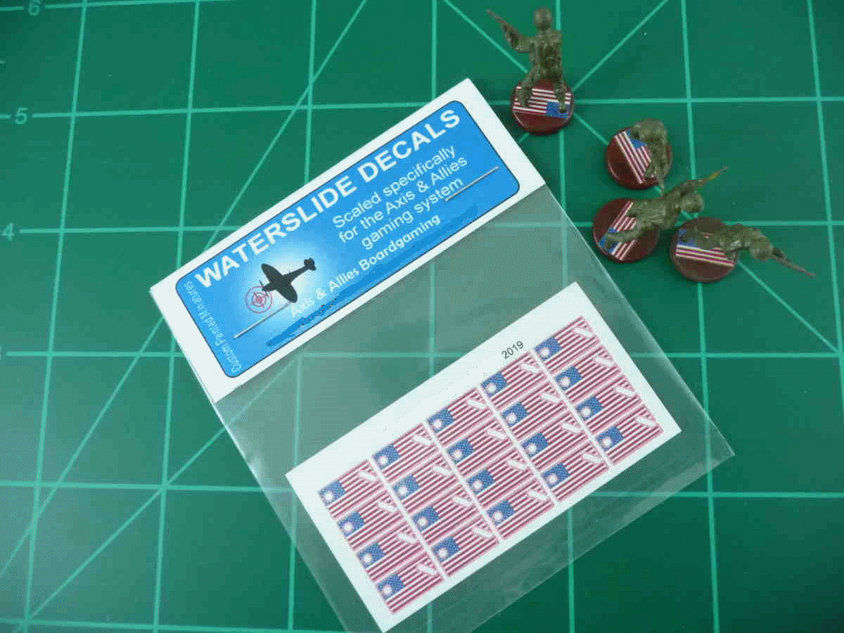 Axis & Allies US Flag Infantry Base Insignia Water Slide Decal