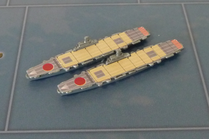 Custom Painted Magnetized Japanese Carrier By Military Miniatures (x2)