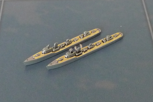 Custom Painted Japanese Destroyer By Military Miniatures (x2)