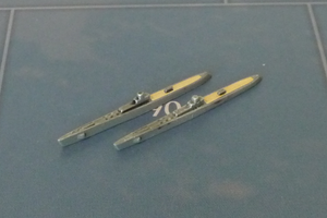 Custom Painted Japanese Submarine By Military Miniatures (x2)