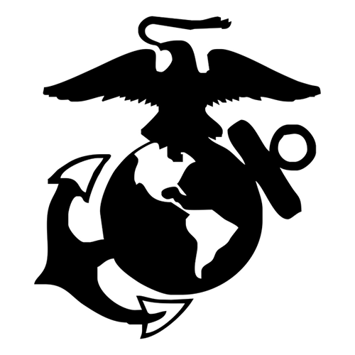 1/300-1/600 United States Marine Logo in Black Water Slide Decals