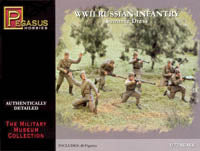 Pegasus 1/72 WWII Russian Infantry in Summer Dress