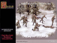 Pegasus 1/72 WWII Russian Infantry in Winter Dress Set #1