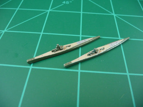 Custom Painted Russian Submarine By Military Miniatures (x2)