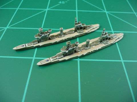 Custom Painted Russian Battleship By Military Miniatures (x2)