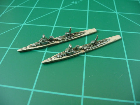 Custom Painted Russian Cruiser By Military Miniatures (x2)