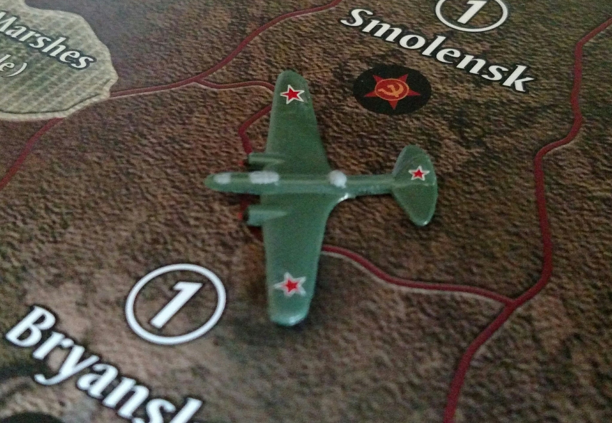 Custom Painted Russian Medium Bomber in Green