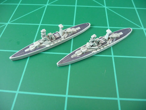 Custom Painted UK Battleship By Military Miniatures (x2)