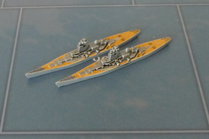 Custom Painted US Battleship By Military Miniatures (x2)