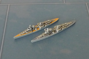 Custom Painted US Cruiser By Military Miniatures (x2)