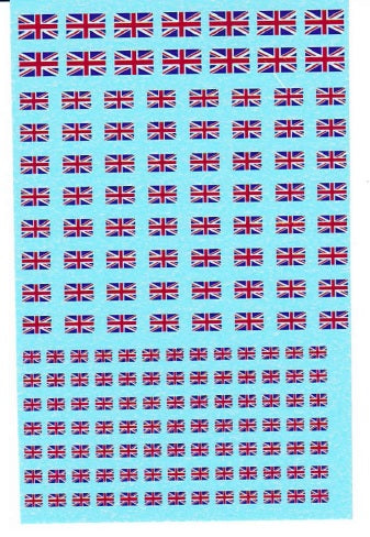 1/285 Union Jack British Flag Water Slide Decals