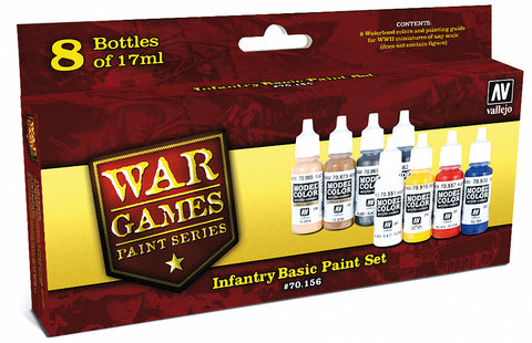 Infantry Basic Paint Set from Vallejo (8) Colors