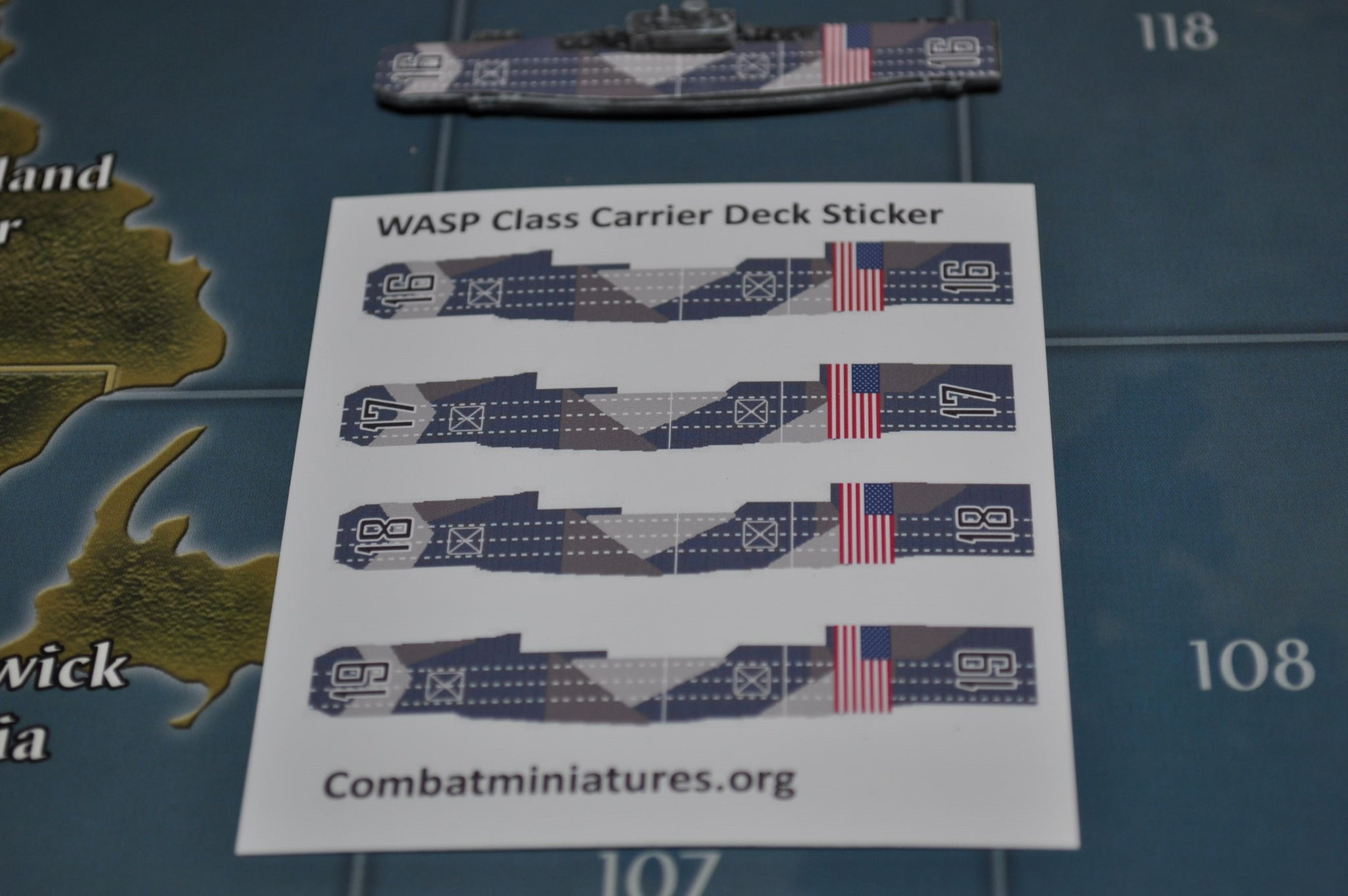 Custom Wasp Class US Carrier Decal with Camo 4-Pack