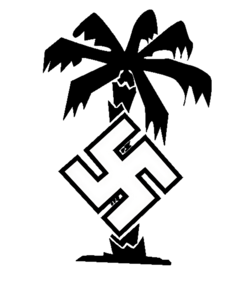 1/285 WW2 German DAK Palm Water Slide Decal in White