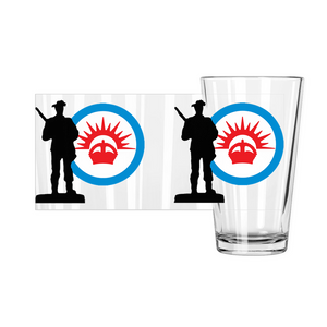 Axis & Allies ANZAC Roundel Pint Glasses