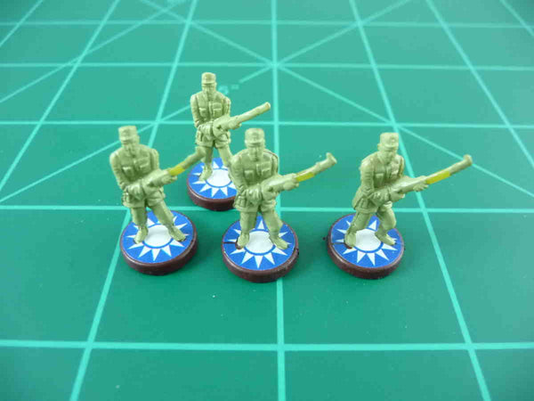 Axis & Allies Chinese Roundel Infantry Base Water Slide Decal