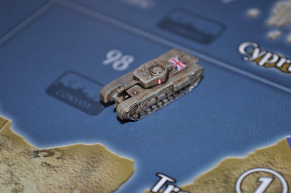 1/285 Custom Painted British Churchill Heavy Tank (x3)