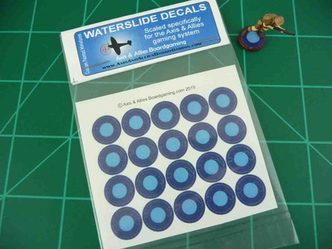 Axis & Allies FEC Roundel Infantry Base Water Slide Decal
