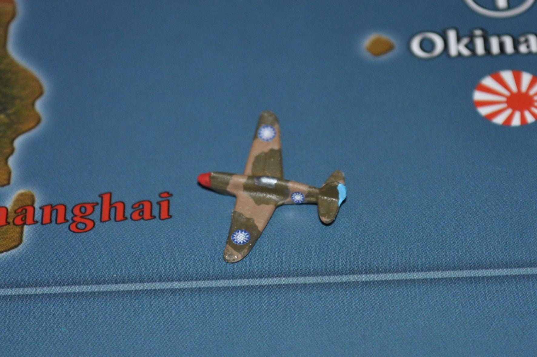 Custom Painted US P-40 Warhawk Fighter with Chinese Roundel