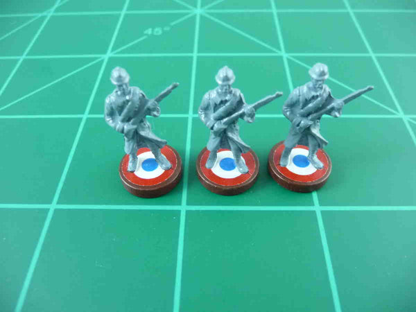 Axis & Allies French Roundel Infantry Base Water Slide Decal