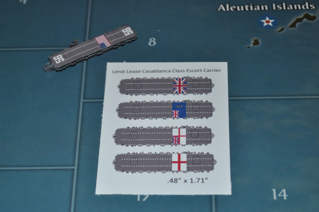 Custom Lend-Lease Casablanca Escort Carrier Decal 4-Pack