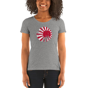 Axis & Allies Japanese Roundels (Distressed) Ladies' short sleeve t-shirt
